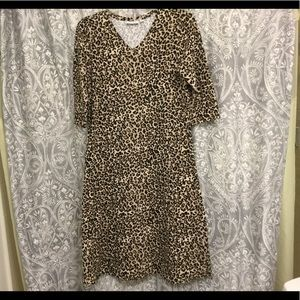 Denim & Co QVC Leopard print dress size S